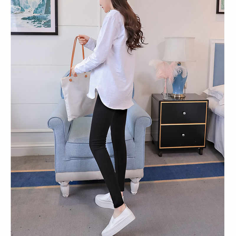 8cfde41a8a91c ... 2018 Elegant Maternity Leggings Low Waist Belly Pants For Pregnant  women Soft Fabric Pregnancy Thin Trousers ...