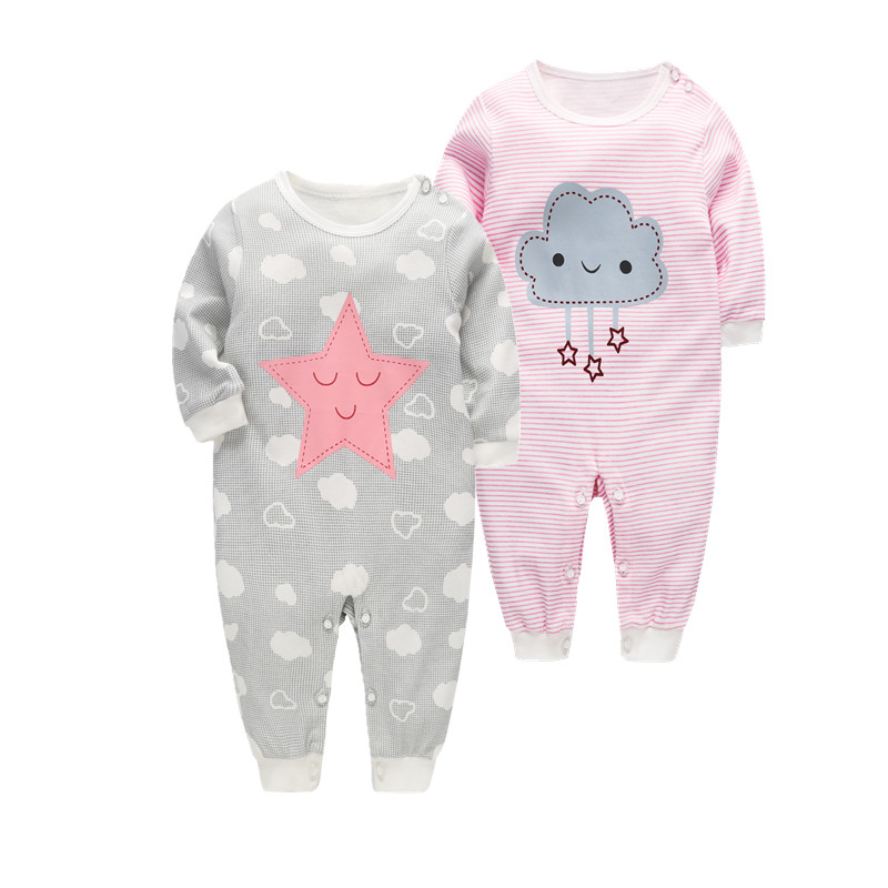 2018 Newborn Baby girl Clothes cute printing Baby Rompers spring Baby Girls boys Clothing Jumpsuits Roupas Bebes Infant Costume