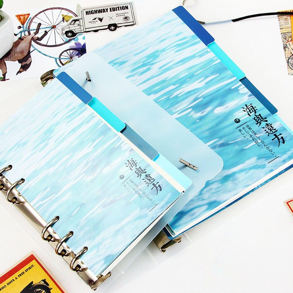 Ehrlichkeit A5 A6 6 Löcher Whale Farbige Notebook Lose Blatt Papier Separator Seiten Notebook Papier Innenseiten Office & School Supplies