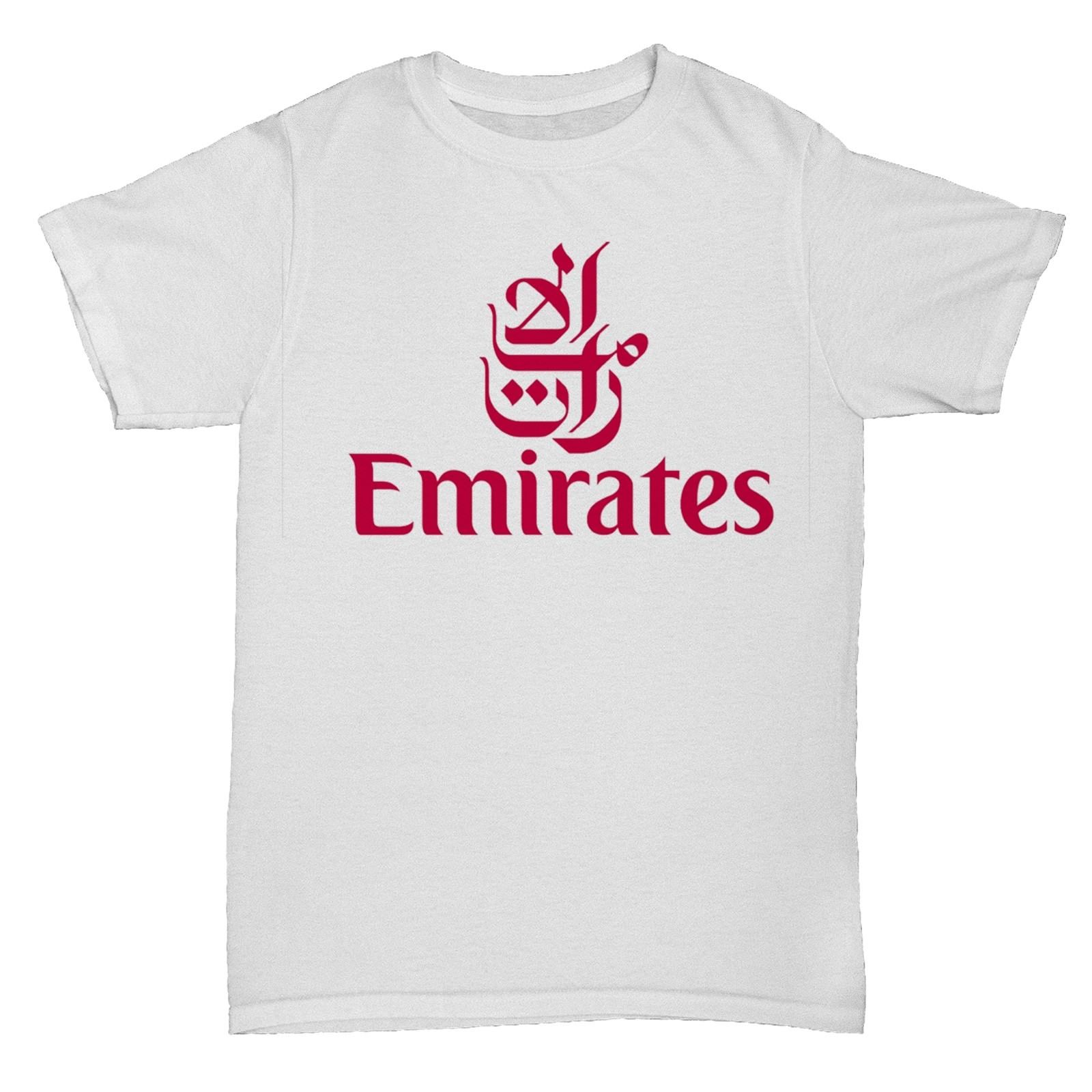EMIRATES UAE AIRWAYS BA AIRLINES RETRO AEROPLANE BOAC PAN AM T SHIRT Print T-Shirt Men Summer Style Round Neck Clothes