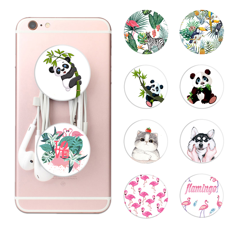 2018 dog cat Pattern POP Finger Ring Anti-fall Smartphone Mobile Phone Desk Stand