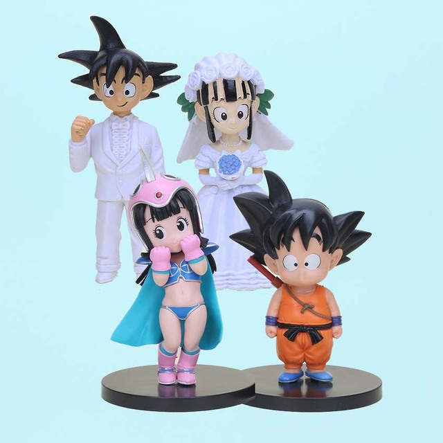 Dragon Ball Z Goku ChiChi Wedding Set PVC Action Figure Dragonball ...