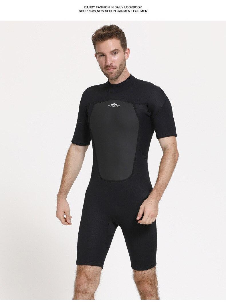 Sbart 2mm neoprene surf wetsuit homem para