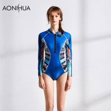 AONIHUA Womens Bikini Swimwear One Piece Swimsuit Sexy 2018 Fashion Printing Women Beth Wear Sport