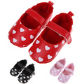 New Princess Infant Toddler Girls Heatshape Anti-Slip Outdoor Shoes Soft Bottom Polka Dot Love Shoes  First Walkers 0-18m