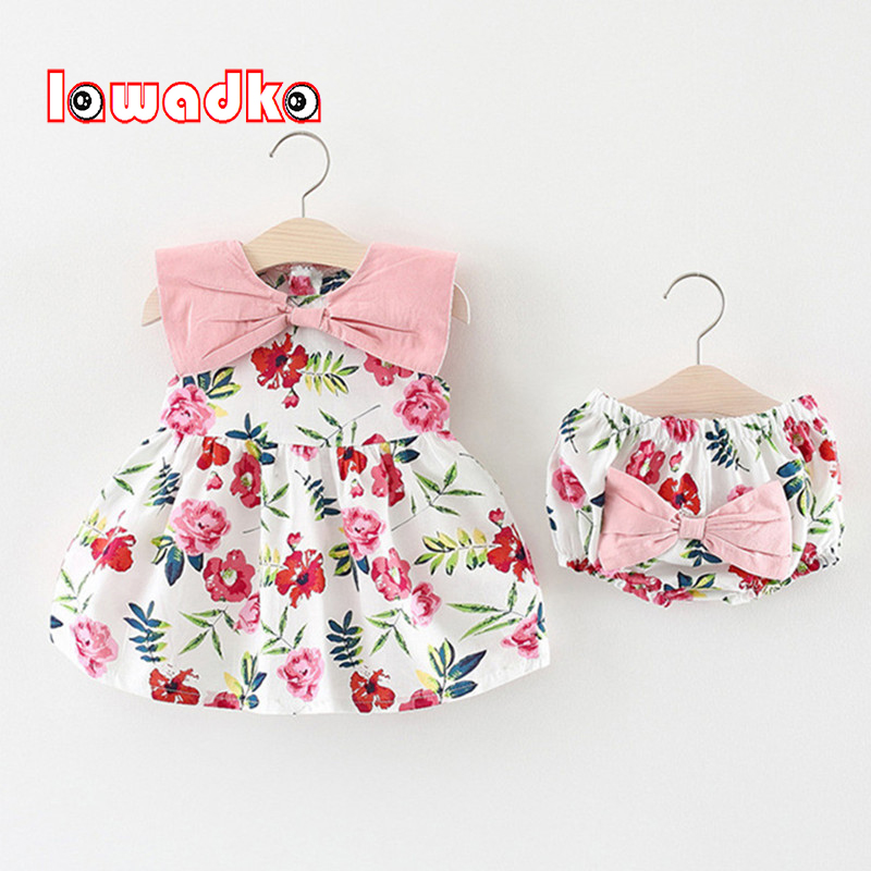 Lawadka Baby Baby Girls Clothing Sets 2018 New Brand Two Piece Sets Short Pants +Floral Dress Summer Style ...
