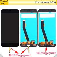 5.5inch For Xiaomi Mi6 LCD Display + Touch Screen 100% New FHD Digitizer Assembly Replacement For Xiaomi MI 6 M6 Mobile Phone