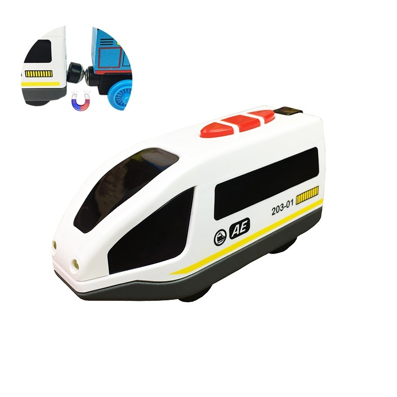 Kids Track Car Toy For Chidren Electric Train Wood Toy Kids Electric Wood Track Train