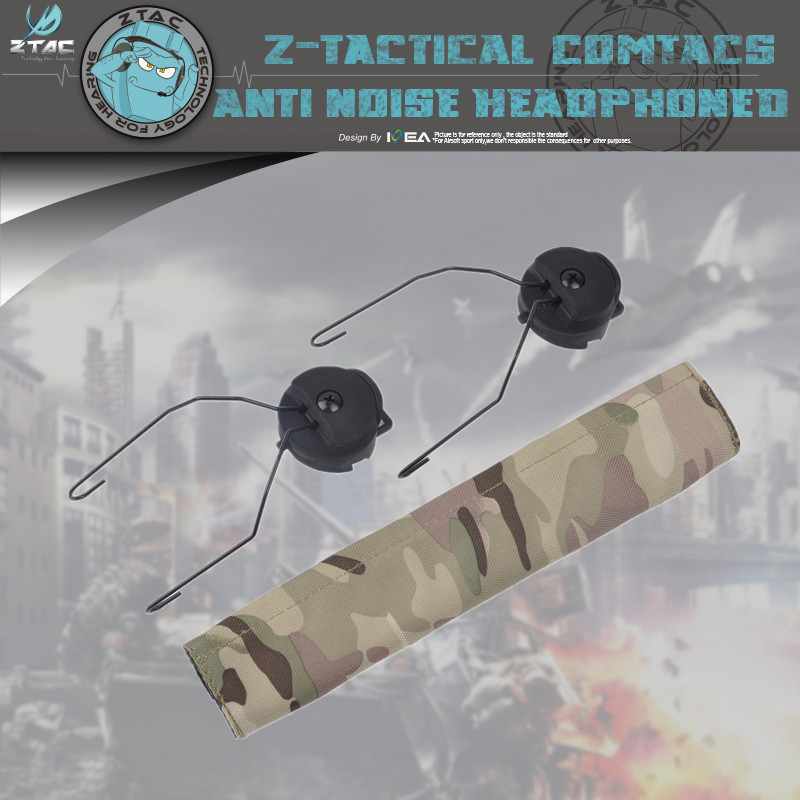 Genuine Z Tactical Headset PTT Z148 Helmet Rail Adapter Set For MSA Sordin Z-TAC Microphone Accessories