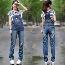 Free Shipping 2017 New Fashion Straight Pants For Women Plus Size XXXL High Quality Trousers Denim Jeans Jumpsuits And Rompers L