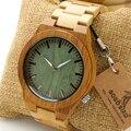 B22 bobo bird pulsera de madera de madera de bambú de los hombres ghost ojos correa resplandor analógico relojes con caja de regalo de madera