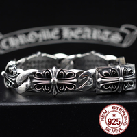 925 Sterling Silver Bracelet High End Vintage The Crusader Chains The Punk Style Men And Women