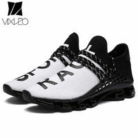 VIXLEO New Tenis Designer Men Shoes Casual Mesh Luxury Breathable Male Shoes Human Race Sport Trainers