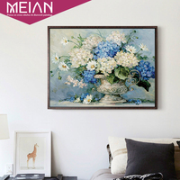 Meian Special Shaped European Flowers Diamond Embroidery Full DIY Diamond Painting Cross Stitch Diamond Mosaic Home