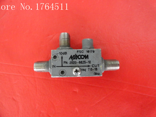 [BELLA] M/A-COM 2020-6625-10 7-18GHz Coup:10dB SMA Coaxial Directional Coupler