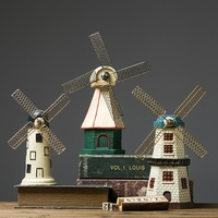 Nordic Style Creative Resin Dutch Windmill Model Netherlands vintage small household living room Home Decoration