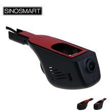 SINOSMART specjalne ukryte wifi w samochodzie kamera dvr dla Toyota Corolla/Prius/Camry/Prado/Highlander itp. sterowanie przez App