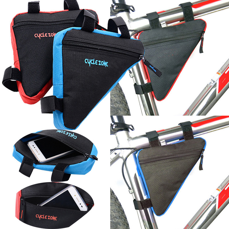 1PC Durable Practical Waterproof Front Tube Frame Bag Triangle Bicycle Front Bag