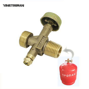YINGTOUMAN  LPG Bottle Valve for Gas Cylinder Tank Stoves Refill Adapter Camping Stove Cylinder Gas Burner 0Cylinder Valve body jewelry