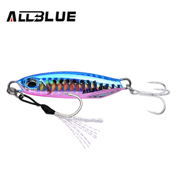 ALLBLUE New DRAGER Metal Cast Jig Spoon 15G 30G Shore Casting Jigging Lead Fish Sea Bass Fishing Lure  Artificial Bait Tackle 10