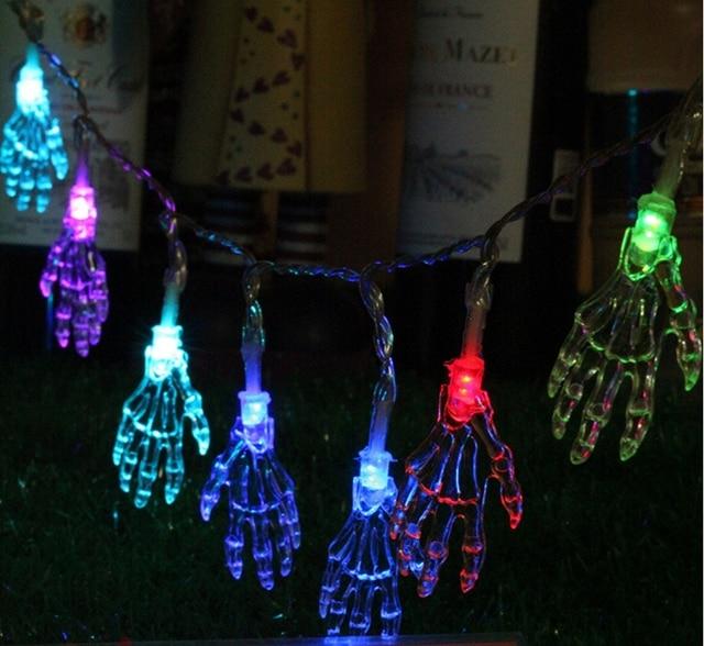 yingtouman 5m skull hand type twinkle light holiday lighting home xmas decoration christmas lights party string