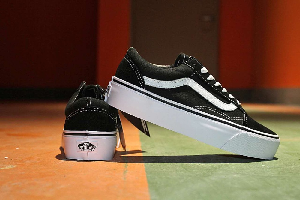 Free shipping vans authentic old skool platform women canvas shoes ... 6eecddae7785