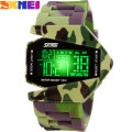 2017 SKMEI 50M Waterproof new men army pilot fighter military sports watches digital led clock camouflage rubber silicone jelly