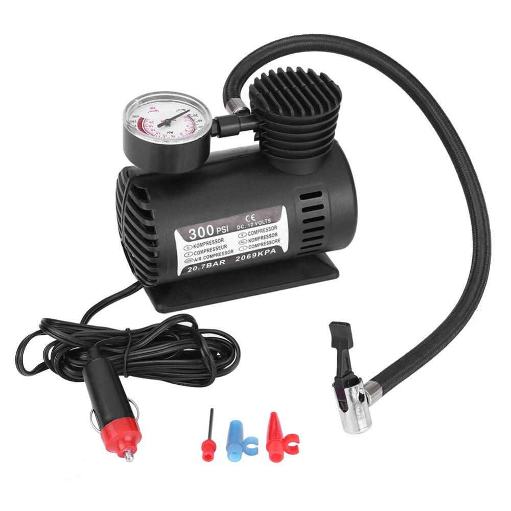 12V 300 PSI Portable Emergency Mini Air Compressor Electric Car Motorcycle Tire Infaltor ...