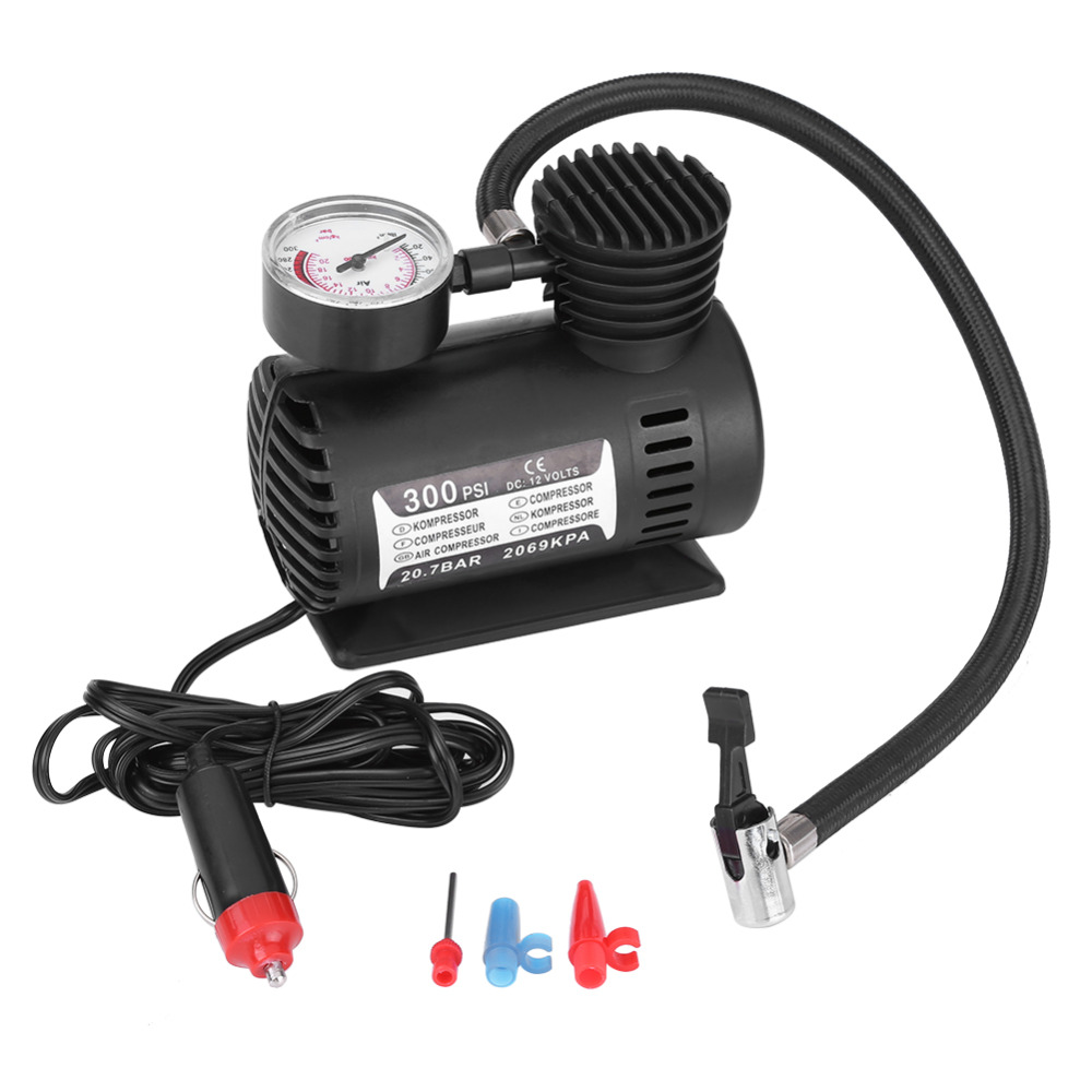 12V 300PSI Car Portable Emergency Mini Electric Air Compressor Kit for Motorbike Ball Bicycles Tire Inflator Pump Car Styling