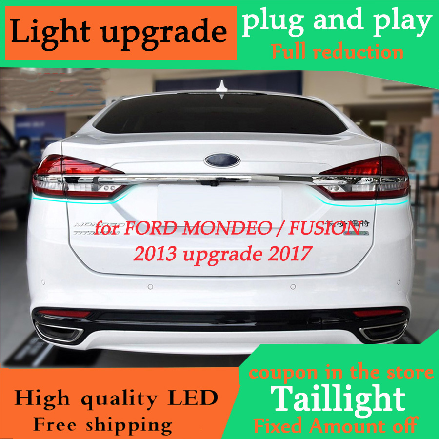 D YL Car Styling For Ford Mondeo Fusion 2013 2016 Taillights update 2017 taillight LED Tail