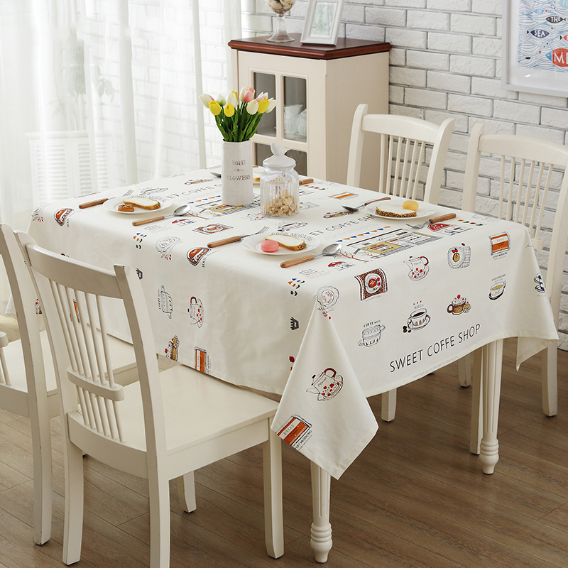 Home Cartoon Tablecloths Garden Cloth Simple Modern Round