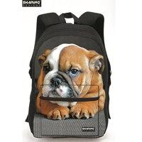 Cool Children Dog printing Backpack Supreme Monkey Panda Tiger Head Backpack Boys School Laptop Backbag Mochila Kids Rucksack