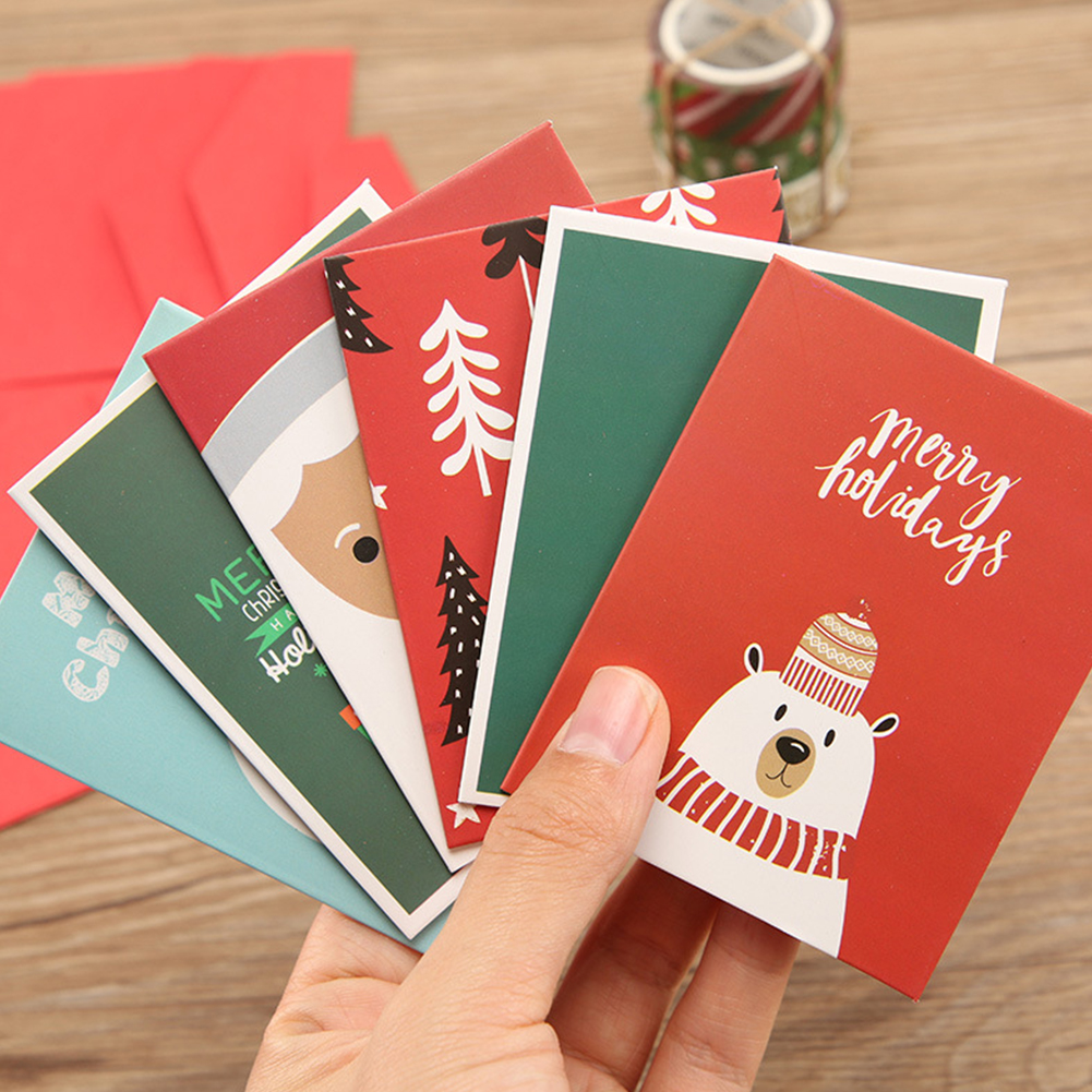 Paper Envelopes Nice Creative Hollow Out Kraft Paper Small Card With Envelope Birthday Holiday Greeting Message Card Christmas New Year Gift Card Superior Materials