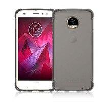 100pcs Lot Transparent Shockproof Anti Skid TPU Gel Skin Soft Case Cover For Motorola Moto Z2
