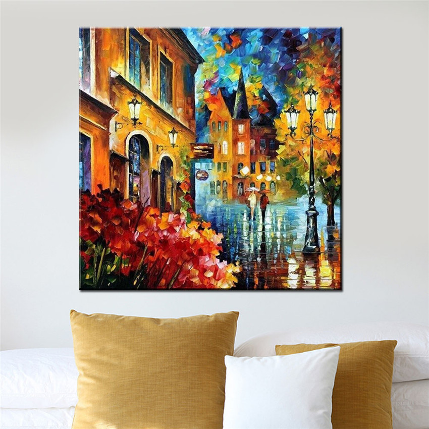 ⑥Ween ciudad cuadros por números lienzo artes 40x50 cm DIY pintura ...