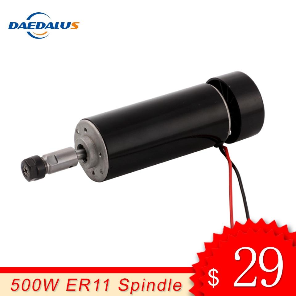 CNC Spindle 500W Air Cooled Spindle font b Motor b font ER11 Collet DC 0 100V