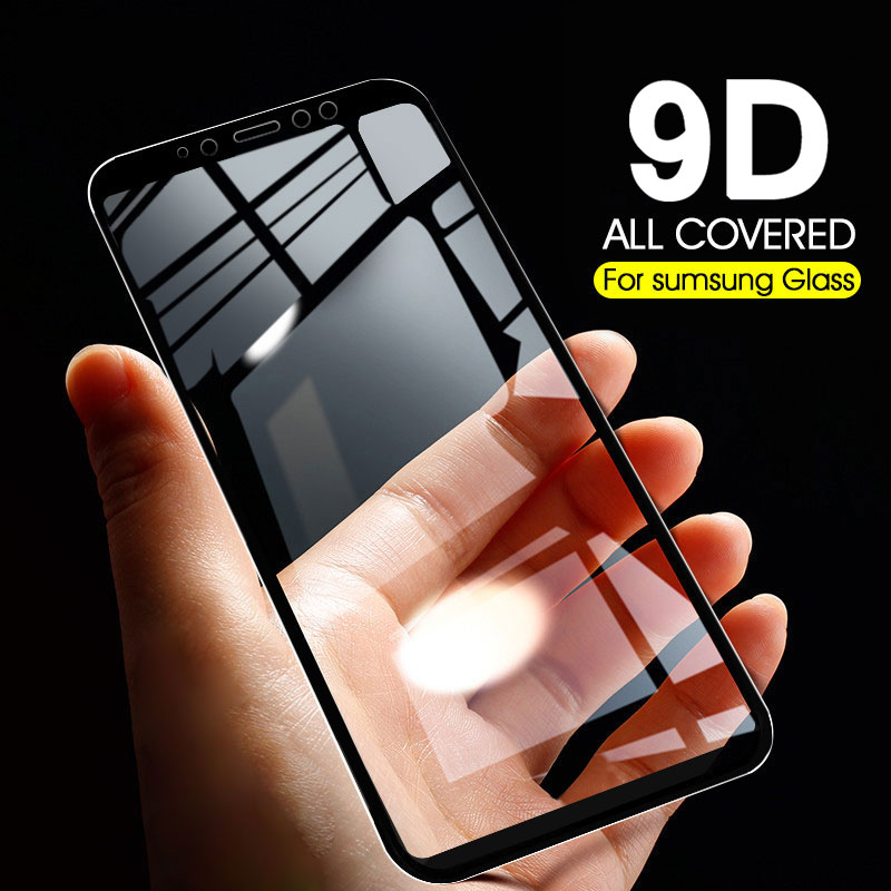 9D Protective Glass On The For Samsung Galaxy A7 2018 Tempered Glass 3D For Samsung J6 Plus J6Plus A 7 Pelicula Screen Protector