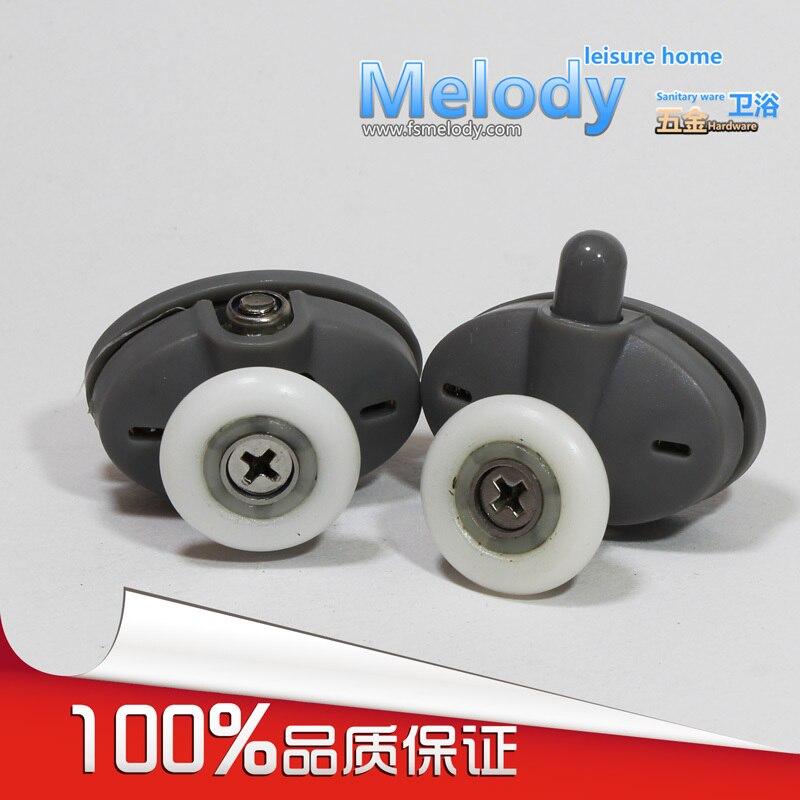 (A Pair Top + Bottom)Me-008S  Shower Door Roller Bath Screen Single Wheel Shower Room Accessories C-C 26mm