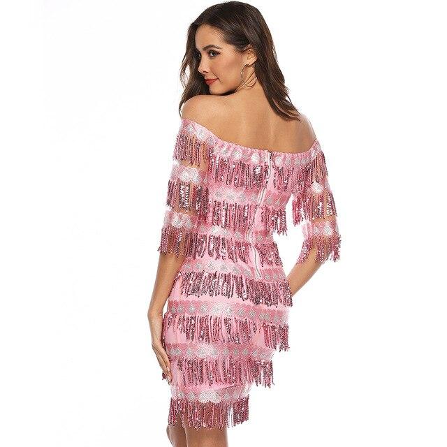 Фото сексуальные розовые короткие коктейльные платья до колен 2019 цена