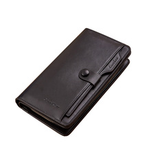 Fashion and Leisure Zipper Long Men Purse Large Capacity Male Cards Holder Clutch Wallet Phone And Coin Pocket Low Price Carteir цены