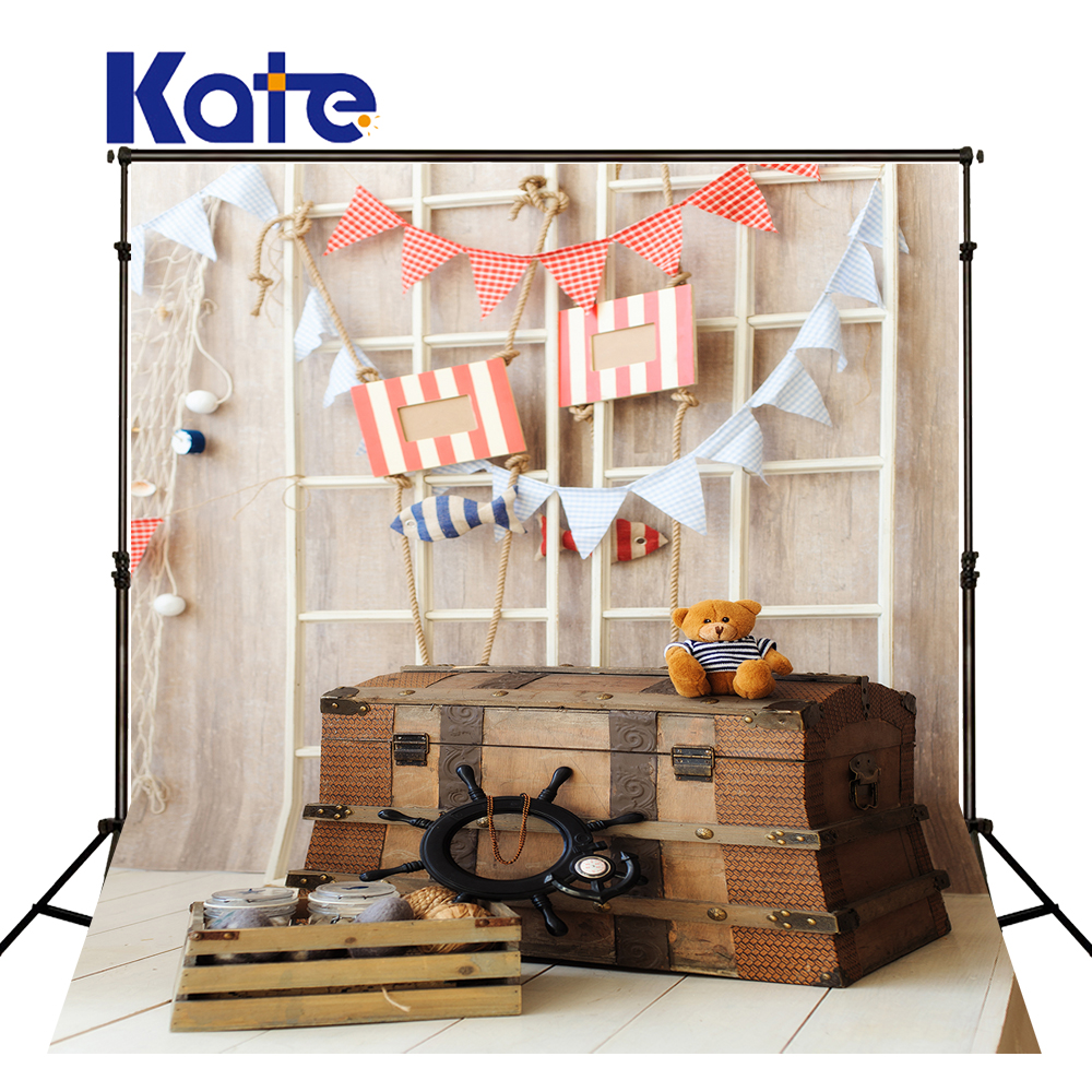 KATE Newborn Photography Background Toy Bear And Luggage Box Pink - Camera and Photo