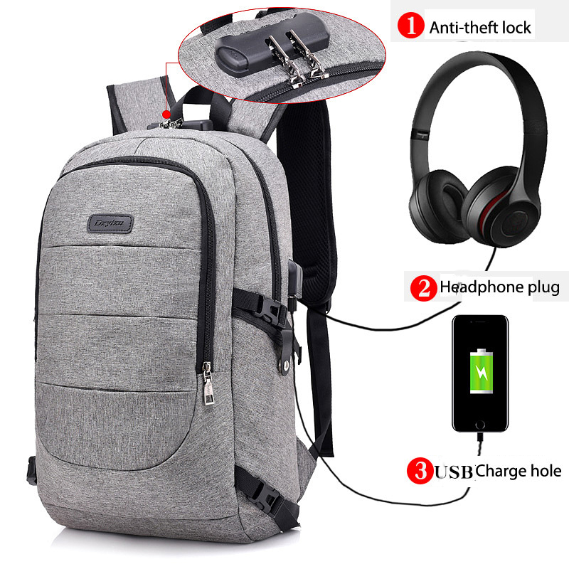 15 inch Laptop Backpack USB Charging Anti Theft Backpack Men Travel Backpacks Waterproof Student School Bag Male Bagpack Mochila