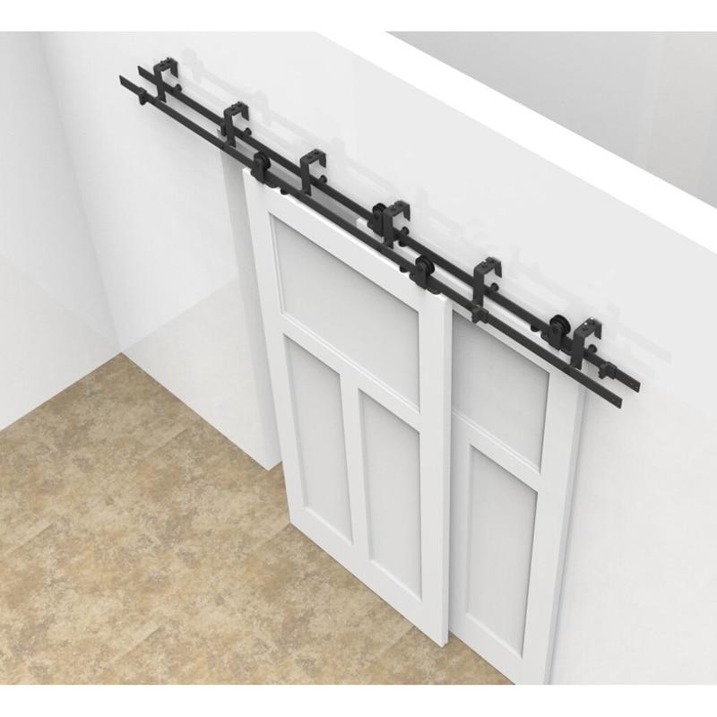 mm a mm herrajes para puertas correderas de madera granero hardware de la puerta de acero