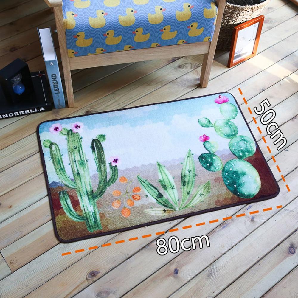 Pastoral Pintada Cactus Casa Capacho Tapete E Carpet Para Sala De