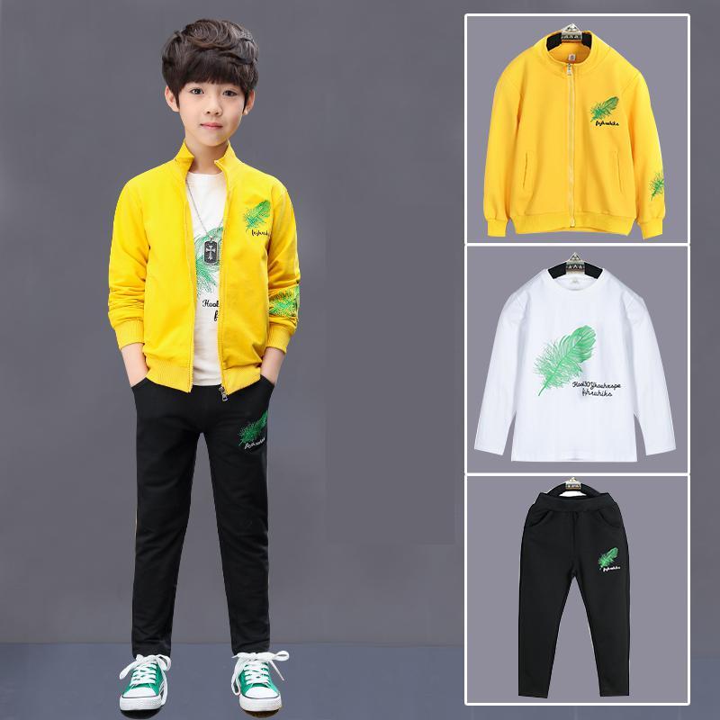 2018 garçons enfants vêtements ensembles enfants vêtements garçon costumes pour garçons vêtements printemps enfants Sport survêtement T-shirts + pantalons + vestes
