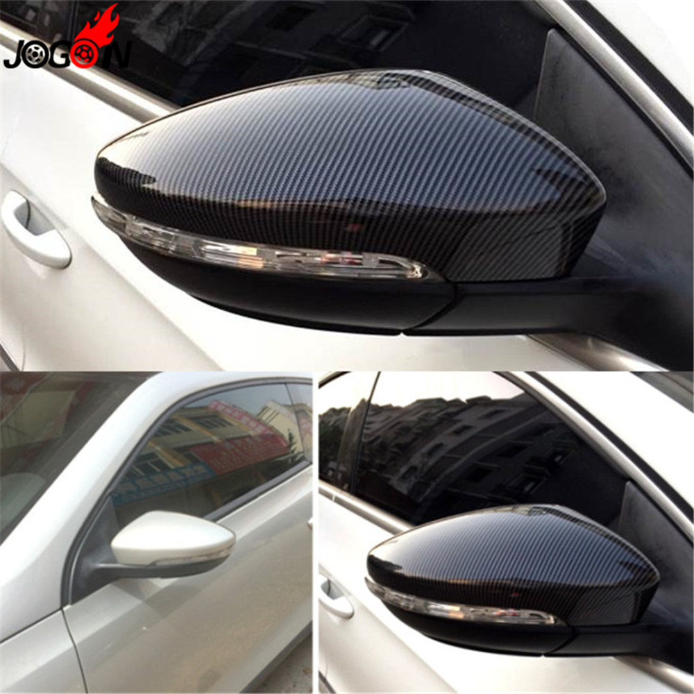 цена на For VW Volkswagen Golf 6 MK6 R GTI VI 2009-2013 Carbon Fiber Side Wing Rear View Rearview Mirror Cover Trim Replace Case Shell