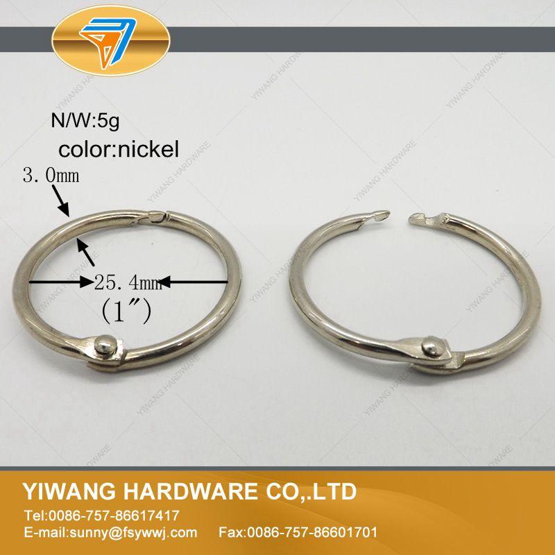 Manufacturer Direct Book Binder Ring Curtain Ring 10pcs Wholesale Nickel  Plating Wall Calendar Circle Dog Chain Ring Keychain