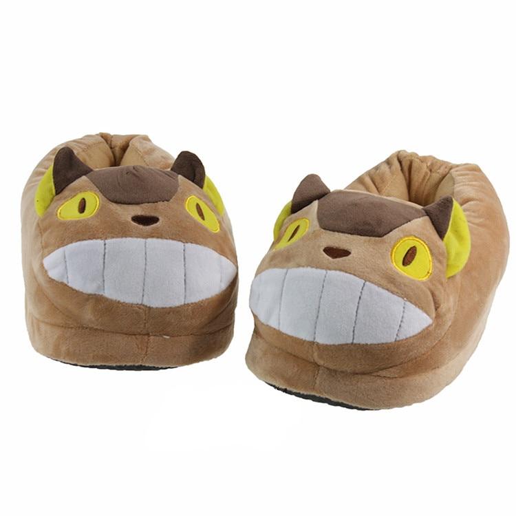 Une paire hiver Mon voisin Totoro pantoufles en coton peluche r1gO9LV1S