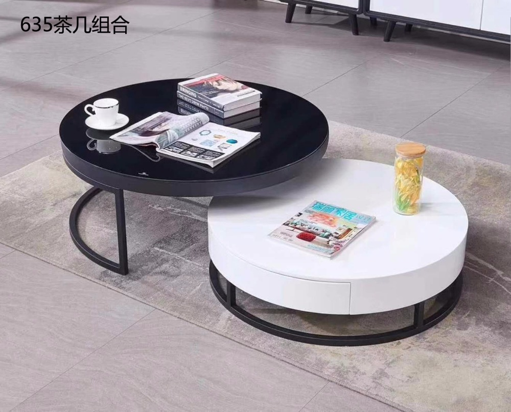 0621CJ635 Modern round metal frame Tempered glass surface living room furniture coffee tea table round combination round table giantex rectangular coffee table tempered glass top metal frame living room furniture living room furniture hw57282