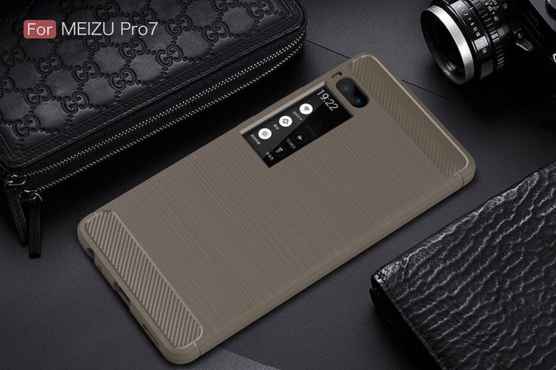 carbon fiber silicon case meizu pro 7 (12)